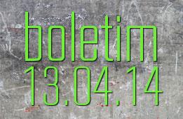 Boletim 13.04.2014