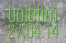 Boletim 27.04.2014