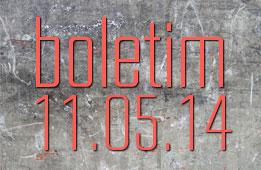 Boletim 11.05.2014