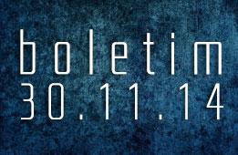 Boletim 30.11.2014