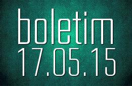 Boletim 17.05.2015