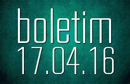 Boletim 17.04.2016