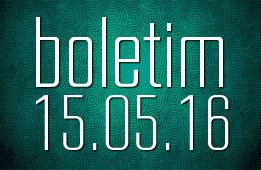 Boletim 15.05.2016