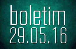 Boletim 29.05.2016